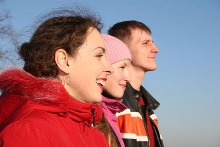 three people photo