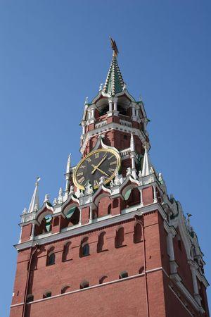 moscow kremlin clock photo