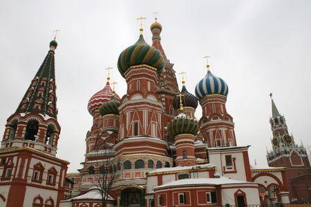 Saint Basil�s cupolas, Moscow, Russia photo