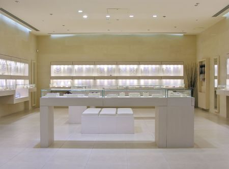 anklet: jewellery shop Stock Photo