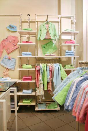 puerile: clothes child shop Stock Photo