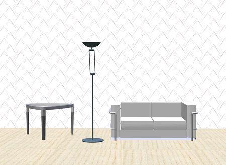 sofa, lamp, table Stock Photo - 548166