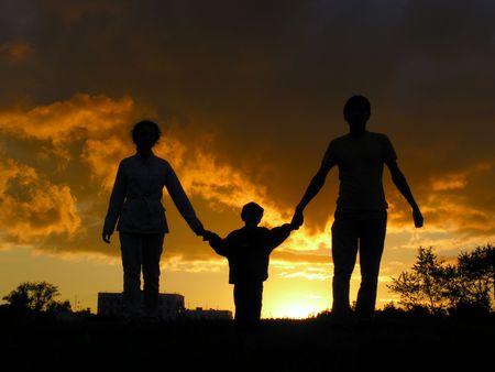 family sunset Stock Photo - 547879