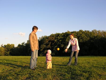 family with  play Stock Photo - 547837