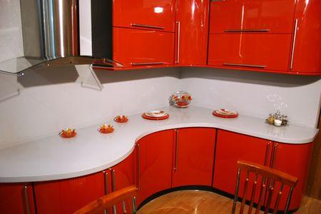 highend: Red cucina  Archivio Fotografico
