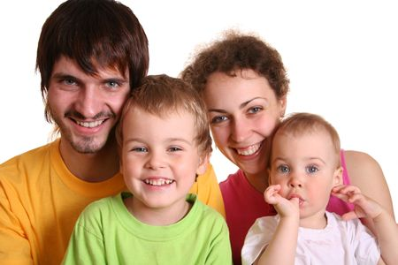 color family of four 2 Stock Photo - 547758