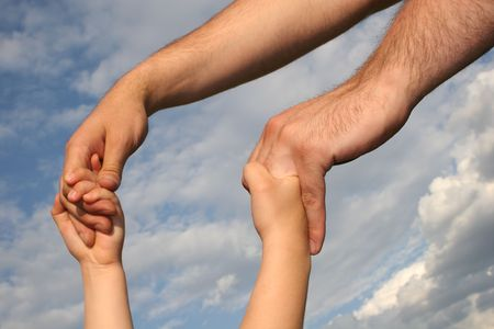 fathers and sons hands pair photo