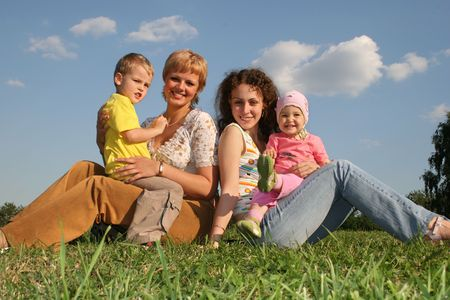 mothers with children photo