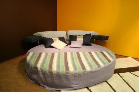 brown yellow modern bedroom photo