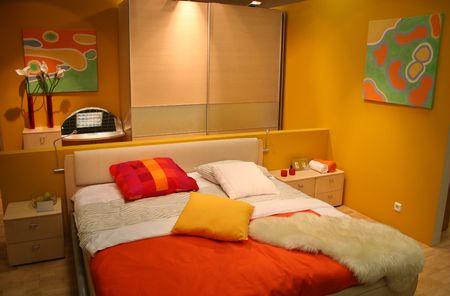 coverlet: yellow bedroom