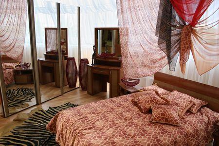 bedroom with big window Stock Photo - 573164