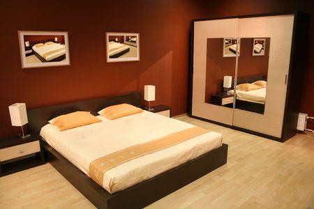 brown bedroom Stock Photo - 573161