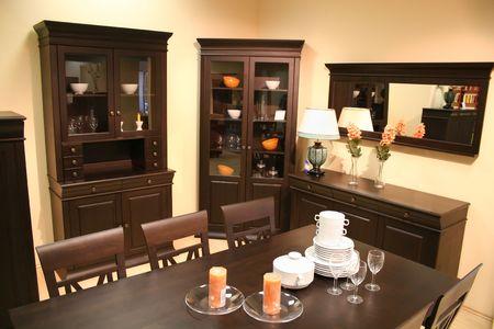 speculum: dinning room Stock Photo