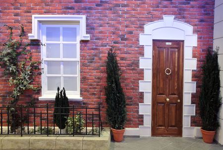 face house window door Stock Photo - 573155