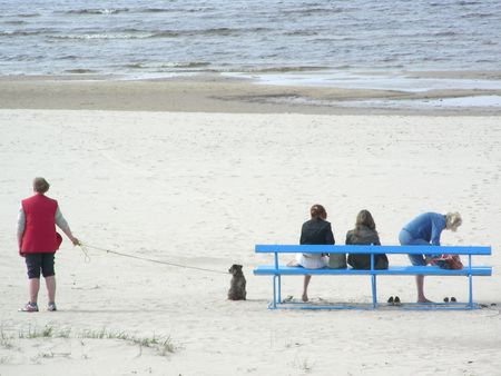rest by the Baltic sea Stock Photo
