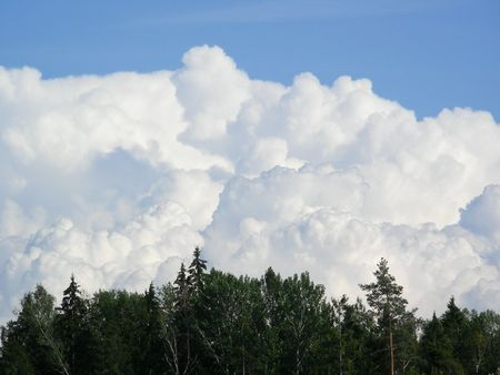 whitw: beauttyful clouds