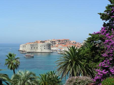 dubrovnik: View to old part of Dubrovnik, Croatia, Adriatic sea