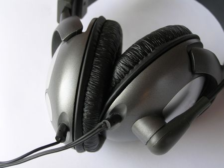 On a photo it is made in Ukraine headphones which are represented lay on a white background.       photo