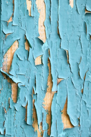 paint peeling: On the door of an old cracked green paint Stock Photo