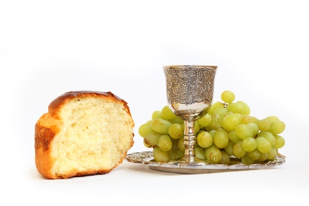 sabbath: Holy Communion. The bread and wine grapes