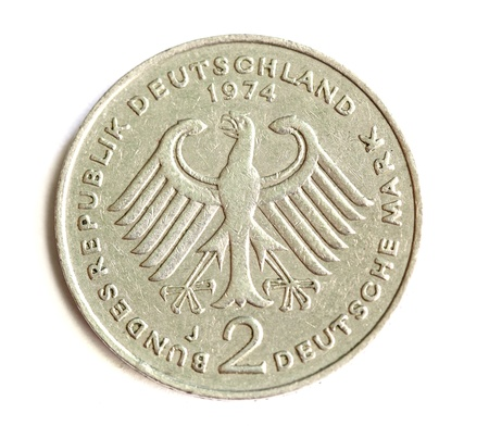 deutschemarks: Germany coin isolated on white Stock Photo