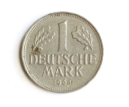 Germany coin isolated on white photo