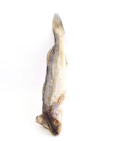 perch dried: perch. Dried fish on a white background