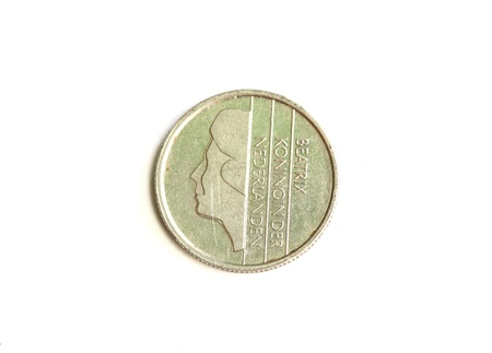 Isolated 1 Gulden - Heads Frontal Stock Photo