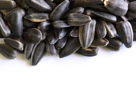 processed: On a photo sunflower seeds close up