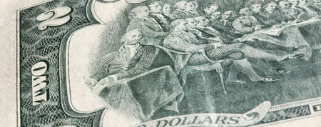two dollar bill: two dollar bill. close-up photo Stock Photo