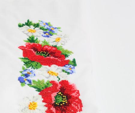 bead embroidery: Ukrainian national clothes. beaded