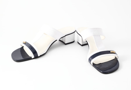 no heels: womens sandals isolared on white