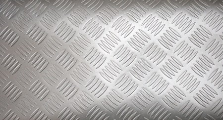 Stainless-steel treadplate with a somewhat unusual tread pattern.