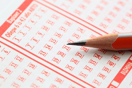loto: pencil and blank for lotteries