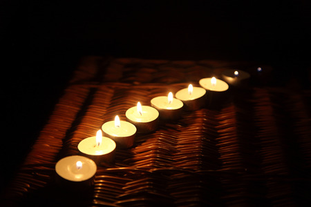 Candles on a dark background photo