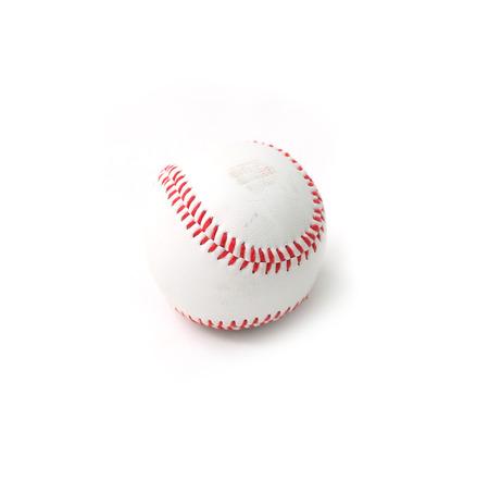 baseman: baseball on a white background Stock Photo