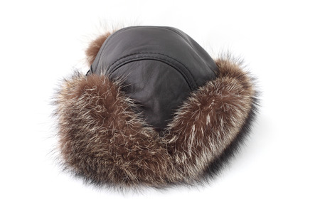 Fur hat. Isolated on white background photo