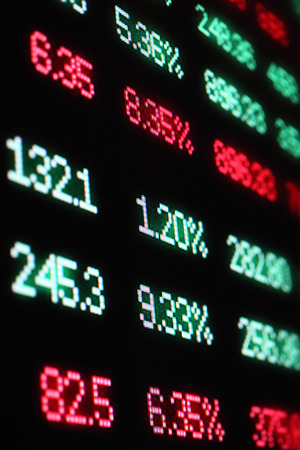 selloff: stock market crash sell-off red finance numbers
