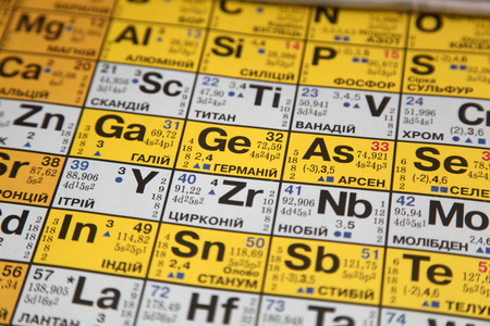 isotope: table of chemical elements Stock Photo
