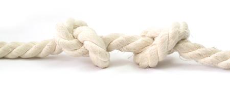 gefesselt: Knoten durch ein Seil gebunden Lizenzfreie Bilder