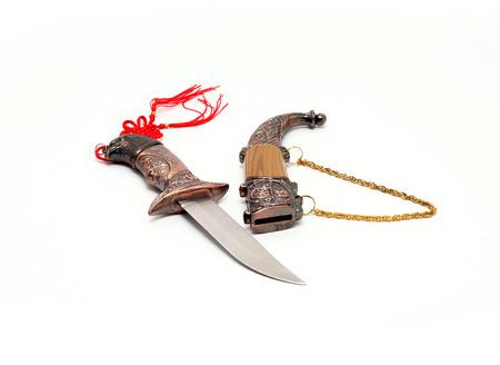 made in finland: China Yingjisha handmade knife Stock Photo