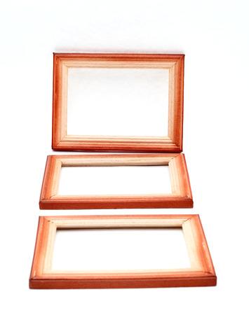 barnwood: wooden frames on white background