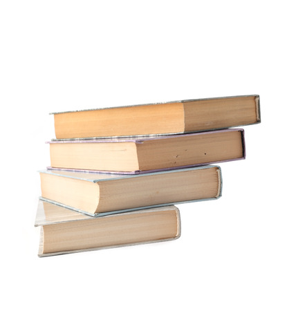 4 color printing: four books on a white background Stock Photo