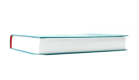tomes: Book cover in blue on a white background Stock Photo