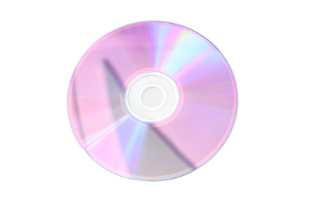recordable: CD disk on a white background isolated Stock Photo
