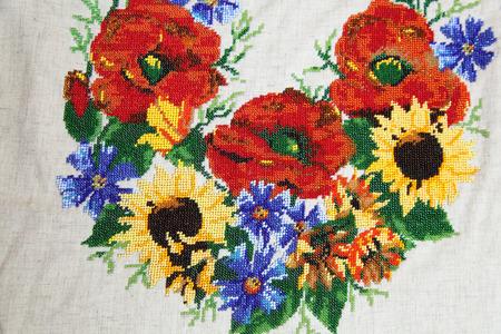 bead embroidery: Ukrainian embroidery pattern beading