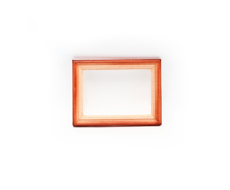 no way out: wooden frames on white background