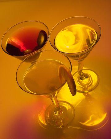 tipsy: Martini shots Stock Photo