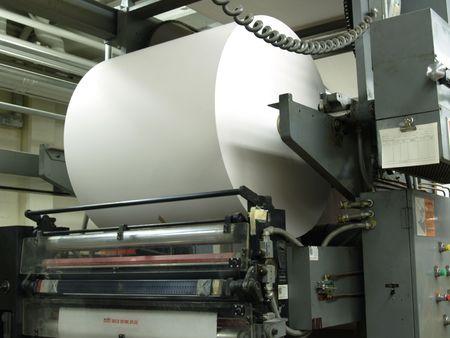 Paper roll on web printing press