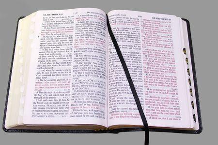 Bible (KJV) opened to the Gospel of Matthew, with Stock Photo - 362966
